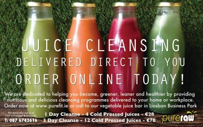 Feel clearer with PureRaw 3-day juice cleanse