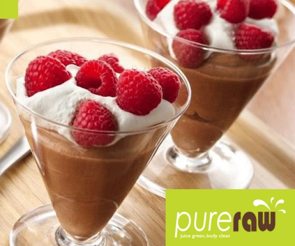HEALTHY DARK CHOCOLATE MOUSSE IN 2 MINUTES
